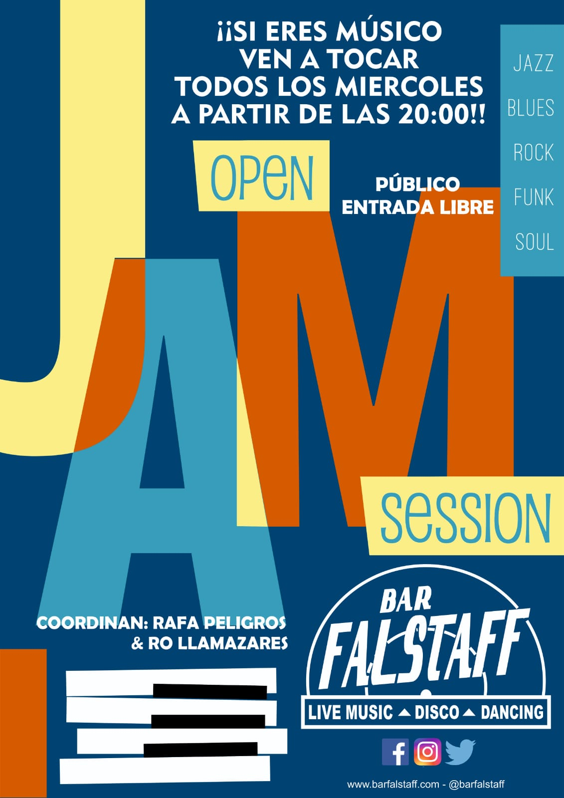 Jam Sessions en Falstaff LIVE